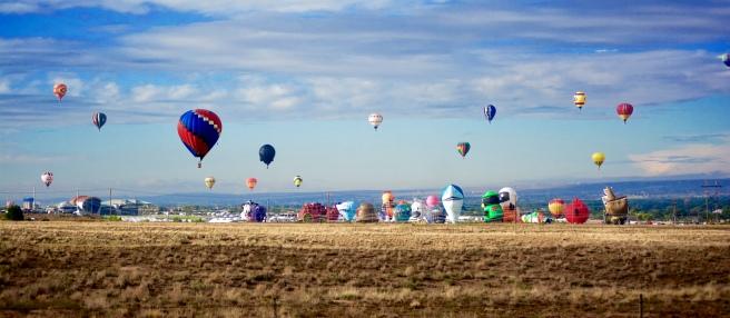 Albuquerque International Balloon Fiesta, EXHIB-IT! Sponsored Check Ride Balloon, EXHIB-IT!, DJ Heckes, Balloon Fiesta, Hot Air Balloon, Steve Chavez