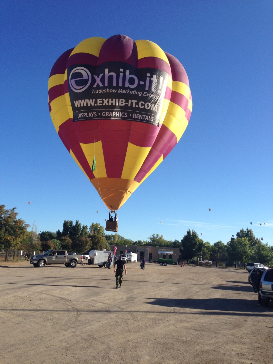Safe Landing, EXHIB-IT! sponsored Check Ride Balloon