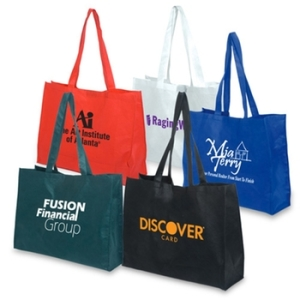 trade show branded tote