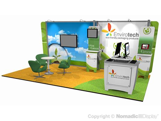 Envirotech, Trade Show,  Exhibitor, green trade show exhibit, nomadic
