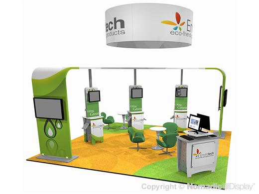 Envirotech, Trade Show,  Exhibitor, green trade show exhibit