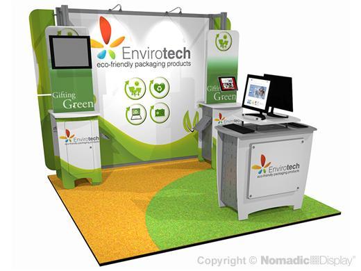 Envirotech, Trade Show,  Exhibitor, green trade show exhibit