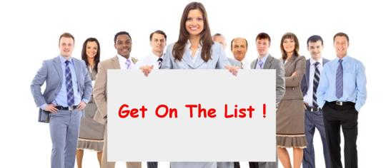 EXHIB-IT!, Group of business professionals holding a sign, building a referal list