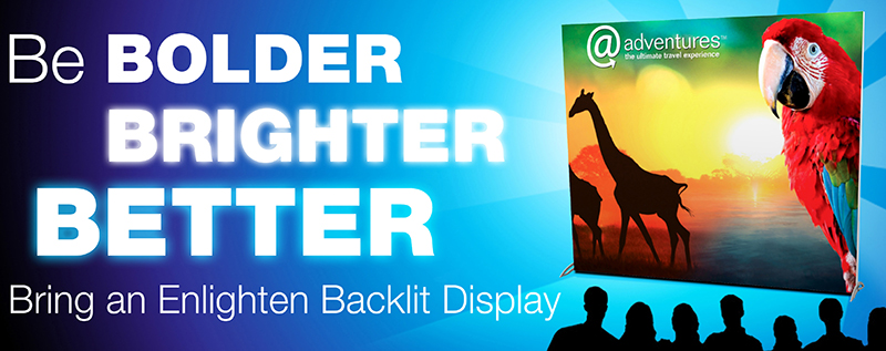 Enlighten, Backlit, Display, Trade Show, Nomadic, EXHIB-IT!