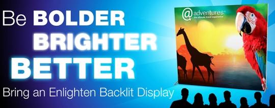 Enlighten, Backlit, Display, Trade Show, Nomadic, EXHIB-IT!