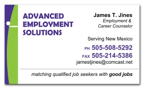 advanced employment solutions, Single Sided, Business Card, EXHIB-IT!, graphic design, marketing, logo, branding