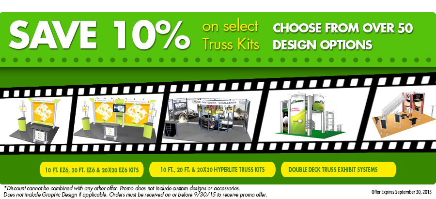 Discounted, Truss, Accessories, Kits, Promo, EXHIB-IT!, DJ Heckes, Double Deck, Marketing, Trade Show, Tradeshow