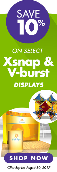 August-Sale-10%-off-XSnap-Vburst-displays
