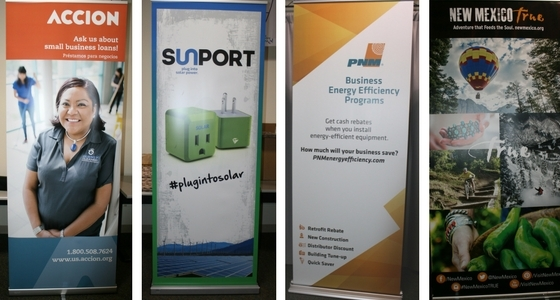 Accion Sunport PNM NM True Banner Stands