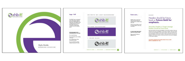 EXHIB-IT! Branding Guide example