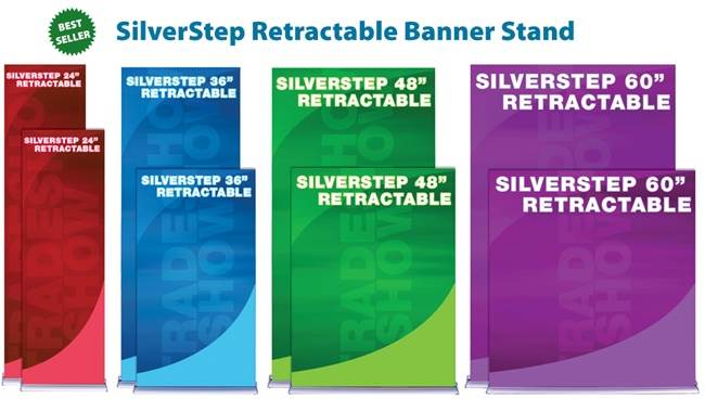 SilverStep Banner Stand Sizes