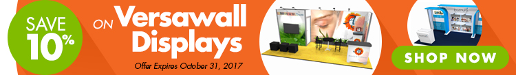 Save 10% on Versawall Displays - Offer expires 10/31/17