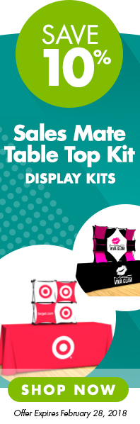 Save 10% on Sales Mate Table Top Kits - January promo