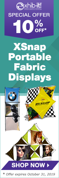 Save 10 percent on XSnap Portable Fabric Displays