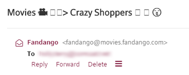 Example of broken emojis in an email subject line